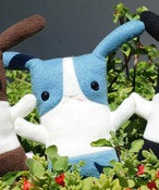 "Image of Flat Bonnie Dutch Bunny Plush - Blue & White (Classic 12"") Handmade"