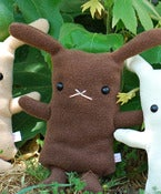 "Image of Flat Bonnie Bunny Plush - Brown (Classic 12"") Handmade"