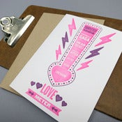 Image of love meter letterpress card