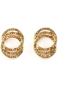 Image of Circles Around You Gold Studs