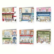 Image of London Shopfronts Greetings Cards Set