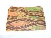 Image of Urbanknit zipper pouch - orange/green print
