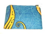 Image of Urbanknit zipper pouch - turquoise print