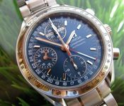 Image of VINTAGE OMEGA SPEEDMASTER TRIPLE CALENDAR in MINT CONDITION- SOLD!