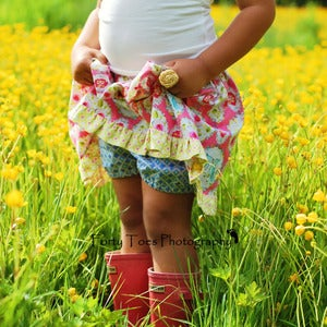 Image of Twirl Skirt Sewing Pattern - with or without attached Bloomers for Girls 2 - 8