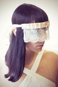 Image of Ivory cream Lace blindfold with Crystals 
