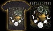 "Image of Black ""Lunar Cycle"" T-shirt."