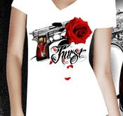 Image of Gun King 1 - Womens V-Neck