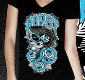 Image of Day of the Dead - Blue - Womens V-Neck
