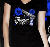 Image of Gun King 2 - Womens V-Neck