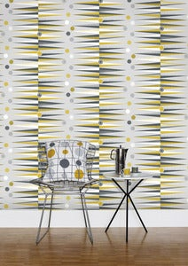 Image of Backgammon Wallpaper - Mustard