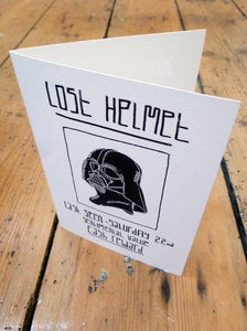 Image of Lost Helmet Greetings Card