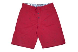 Image of Red  Zebra  Pomplin Golf Shorts