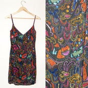 Image of BEADED MOSAIC DRESS // M-L