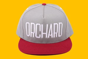 Image of Orchard Snapback Hat - Sherman Text - Granite & Blood