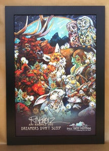 Image of 2012 FAF Signed Poster FRAMED in black/alder/or barnwood