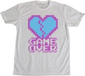 Image of 8 Bit Apparel Game Over Tee in Purple/Blue
