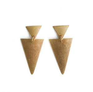 Image of Double Triangle Earrings
