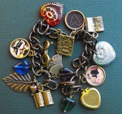 Image of Hearts Books Charm Bracelet for Bibliophiles