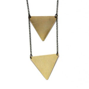 Image of Double Inverted Triangle Necklace