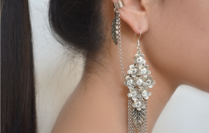 Image of sakura waterfall earcuff