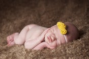 Image of Three Rosette headband in Mustard