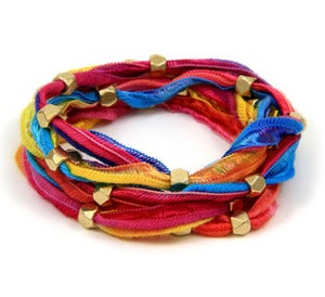 Image of vintage ribbon wrap bracelet