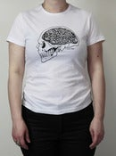 Image of Hard Head tee-shirt white - woman fit