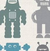 Image of robots - fabric sample