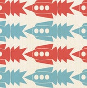 Image of rockets  - fabric by the yard