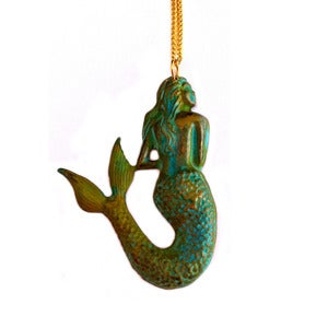 Image of Patina Mermaid Necklace