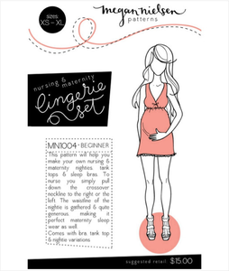 Image of Megan Nielsen Patterns : Nursing & Maternity Lingerie Set