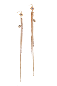 Image of Evil Eye Fringe Earrings