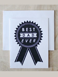 Image of Best Dad Ribbon Card : Sass + Peril
