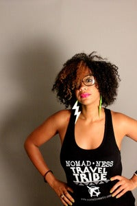 Image of Nomad•ness BLACK Female Racerback Tees