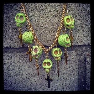 Image of Neon Green Dead Man's Bones