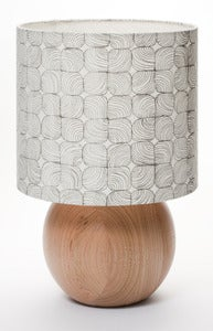 Image of lineal floral bedside ball lamp mid grey