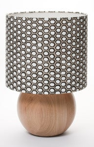Image of hand drawn hex bedside ball lamp