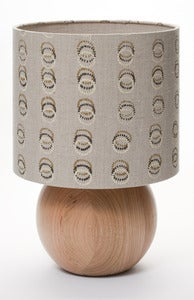 Image of bedside ball lamp dotted circles