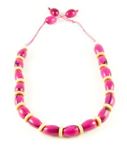 Image of Camajuro Natural Necklace Pink