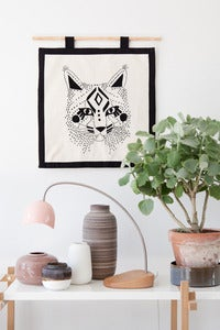 Image of My Embroidery Kit - Bobcat with black floss color