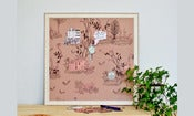 Image of Magnetic Art Board-Brown Pink