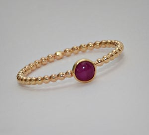 Image of Ruby Ring, July Birthstone, Gold Ruby Ring, Stackable Gemstone Ring - Size 3, 4, 5, 6, 7, 8, 9