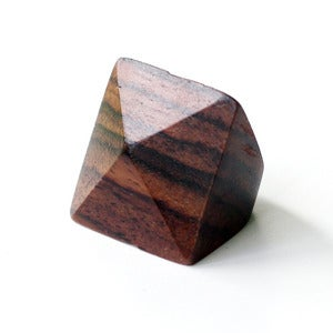 Image of Wooden Faceted Pyramid Ring