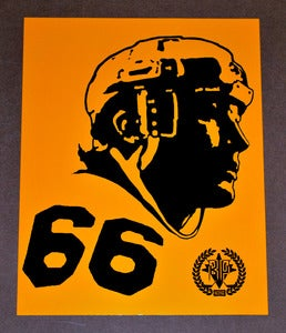 "Image of Mario Lemieux ""66"" print by Backpage Press"