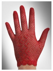 Image of Red Stretch Crochet Gloves
