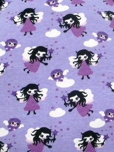 Image of Purple fairies jersey (by the half metre)