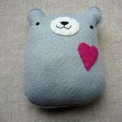 Image of pudgy bear plush // medium gray
