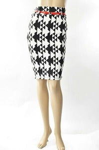Image of Print Ponti Pencil Skirt
