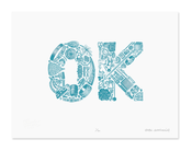 Image of OK (2 color edition) &lt;br&gt;&lt;span class=&quot;by&quot;&gt;by &lt;/span&gt;&lt;/br&gt;&lt;span class=&quot;author&quot;&gt;Erik Marinovich&lt;/span&gt;